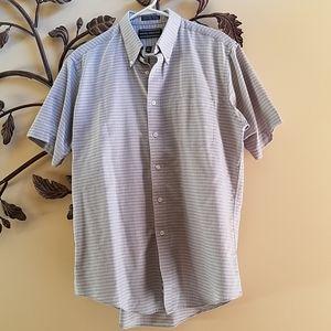 DAVID TAYLOR Short Sleeve Button Down Shirt